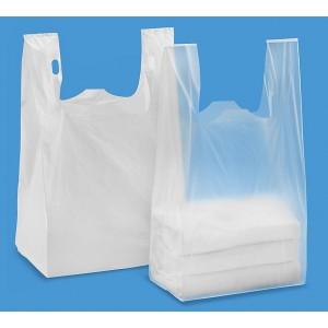 """Poly T-shirt Retail bag 1000/Case, 14"""" x 16"""", White"""