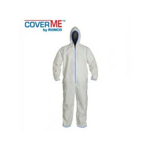 Light-Weight Microporous Coverall, Hood, Elastic Ankles and Sleeves, 25 / Case