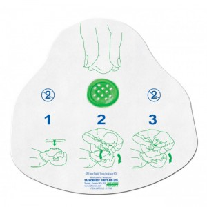Disposable CPR Face Shield, with One-Way Filtered Valve