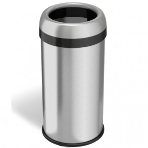 16 Gallon Stainless Steel Round Open Top Trash Can