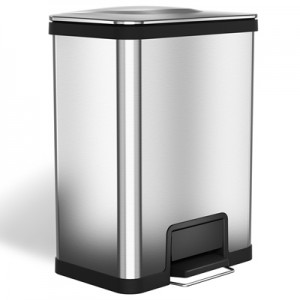 13 Gallon Stainless Steel Step Trash Can with AirStep Technology