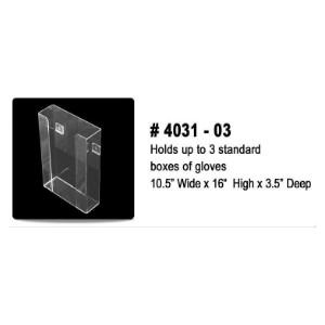 "Acrylic Glove Dispenser, Vertical 3 Glove Box, Wall Mount, 10.5""x16""x3.5"""