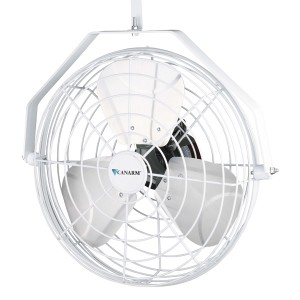 """White Horizontal Air Flow 18"""" High Velocity Greenhouse Industrial Fans"""
