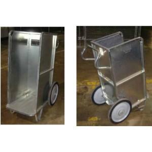 "Two-Wheel Carrier Cart, 40"" x 25.5"" x 50"", Electroplate Finish, Zinc"