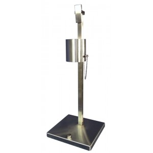 """304 Stainless Steel Foot Activated Dispenser, Hand Sanitizer, 15.9"""" X 15.9"""" X 42.1"""""""