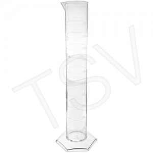 Graduated Cylinder, 50ml, Methyl-pentene polymer,  Graduation: 1ml