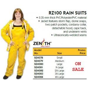 RZ100 Rain Suit Material: Polyester/PVC Size: Large Colour: Yellow