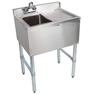 Bar Sinks, Single Compartment, 304 Stainless Steel