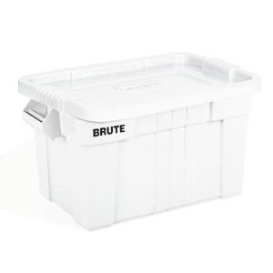 Rubbermaid Brute Tote with Lid, 20 Gallon - White