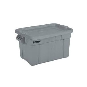 Rubbermaid Brute Tote with Lid, 20 Gallon - Gray