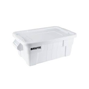 Rubbermaid Brute Tote with Lid, 14 Gallon - White