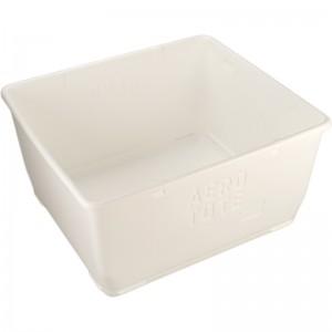 """Aero-Tote Tub w/Drain Plug, Polyethylene, 40.7x37x20.7"""" White"""