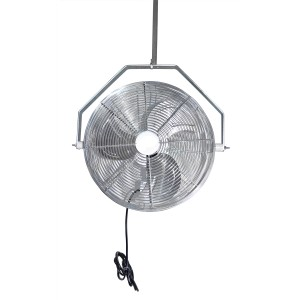 """Chrome Horizontal Air Flow 18"""" High Velocity Greenhouse Industrial Fans"""