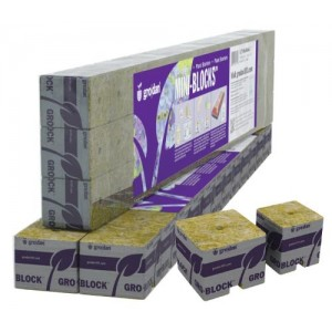 Grodan 1.5 in Starter Mini Blocks MM40per40 1.5 in x 1.5 in x 1.5 in  3 Strips of 15 or 45 ct