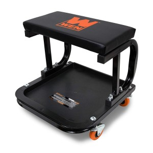 WEN Rolling Mechanic Seat with Onboard Storage (250-Pound Capacity)