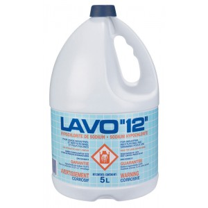 Lavo 12, Commercial Bleach, Sodium Hypochlorite, 5L x 3 Jugs / Case