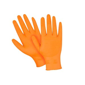 Heavyweight Ultra Gripper Orange Nitrile Gloves, 8 Mil, 1000 Per Case