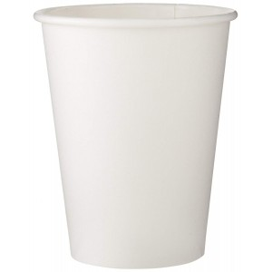 Dixie 2338W Paper Hot Cup, 8 oz Capacity, White (20 Sleeves of 50)