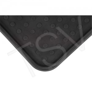 "Boot Tray, Black, 1-3/16""X2-1/16""X 0.6"", Plastic"