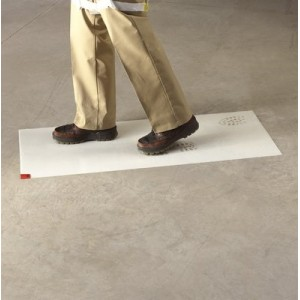3M TM Clean Walk Mat Width: 1-1/2' Length: 3' Thickness: 1.4 mics Colour: White