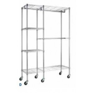 "Mobile Wire Garment Rack  48""W X 18""D X 74""H"
