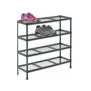 "Steel Wire Shoe Rack  31""W X 11""D X 31""H"