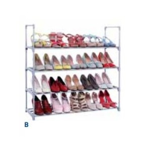"4-Level Shoe Rack  23.4""W X 11.4""D X 28.7""H"