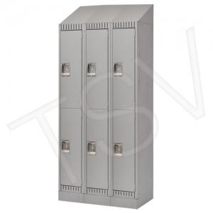 Ready to Assemble Steel Lockers, 2 Tier, 3 Banks, Steel, Knockdown