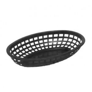 """BASKET black oval 9.5"""""""