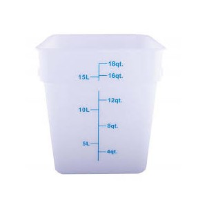 CONTAINER 18qt white 11x11x12.5h
