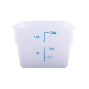 CONTAINER 12qt white 11x11x8h