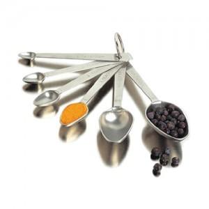 6 Piece measuring spoon set -1.5 tsp, 1 tbsp .25 tsp, 1-8 tsp - Pack of 6