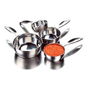 4 Piece Measuring Cup Set, Stainless Steel