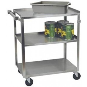 """Stainless Steel Utility Cart, 3 Shelves, 24"""" x 15"""" x 32"""""""