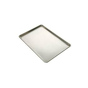 Full Size Aluminum Sheet Pan with Silicone Glaze - 16 Gauge - Pack of 12