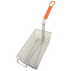 FRYER BASKET 12-1/8x7x6 orange hdl