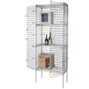 CHROME SECURITY CAGE 24 X36 X63 H