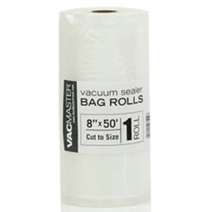 "8"" x 50' full mesh vacuum seal roll. 1/box"