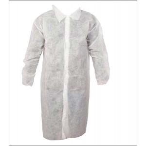 30 Gram Labcoats, Elastic Wrists, Collar, 4 Snaps, No Pockets, 50 Per Case
