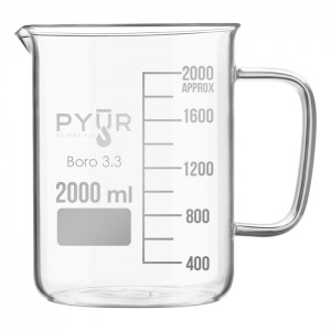 Glass Beaker Low Form with Spout and Graduations with Handle - 100ml