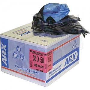 """Arx-Multiflex ® Premium Liners Type: Open Top Length: 36"""" Width: 26"""" Colour: Black"""