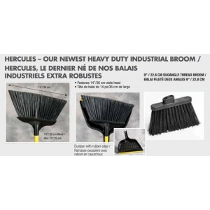 "14 "" Large Ind. Angle Broom Pack of 6   Price Per  EA"