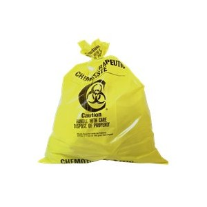 Bio-Medical Waste Liners 2XStr 29X21.5 Yellow 200/CS