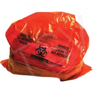 "Bio-Medical Waste Liners 37""x50"" Red  100/CS"