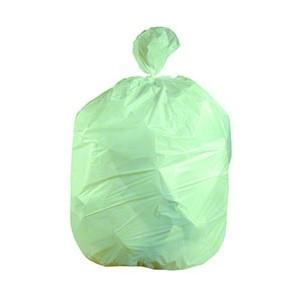 "Garbage Bag Trash Liner, 35"" X 50"" Green Eco 150/CS, Strong"
