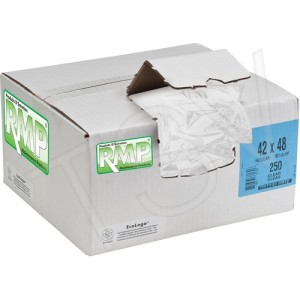 """RMP ® Industrial Garbage Bags Type: Open Top Length: 22"""" Width: 24"""" Colour: Clear"""