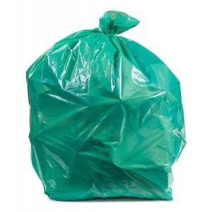 Garbage Bags Green 33X39 1.5mil 33gal.  250/CS 32lbs