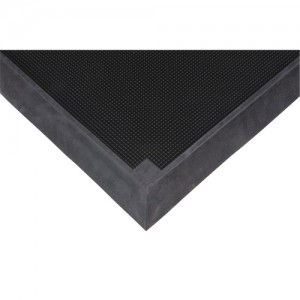 "Sanitizing Footbath Black 2-2/3' X 3-1/4'  2.5"" thick"
