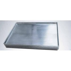 "304 Stainless Steel, Food Grade Fully Perforated Bun Pan 18 x 26"" 3mm holes"