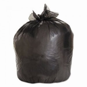 BOARDWALK GARBAGE BAG 35X50 7 MIL BLACK 30 BAGS per ROLL